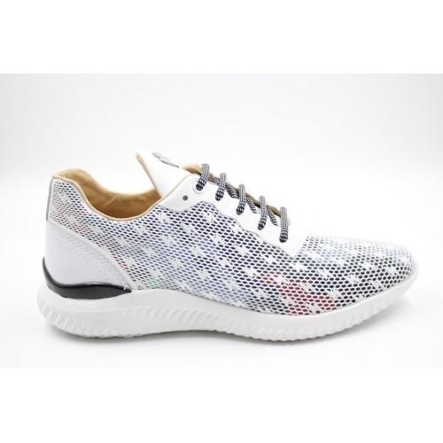 Sneakers barbati alb/multicolor