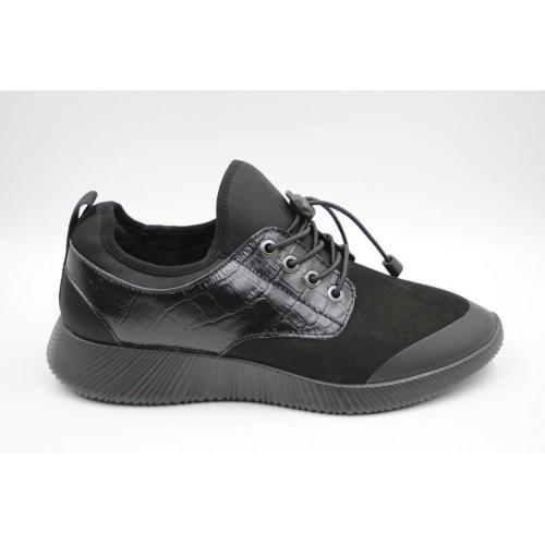 Sneakers barbati high ankle negru