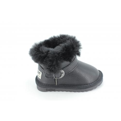 Cizme Copii Tip Ugg Black Fur