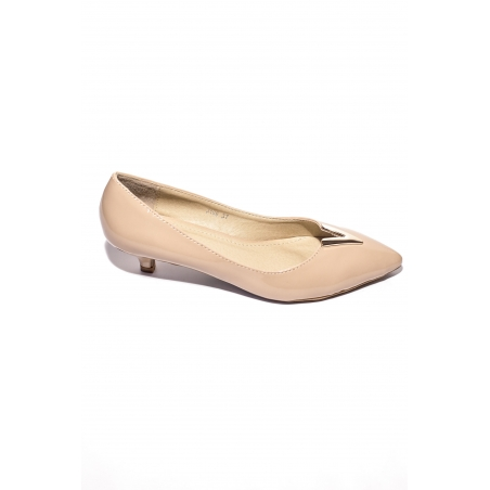 Pantofi Piele Camy Bej